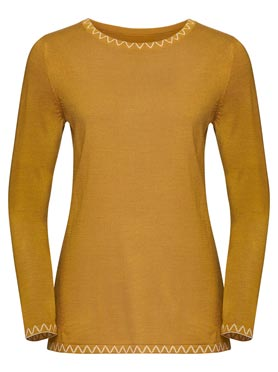 Pull jaune moutar