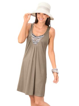 Robe de plage taupe