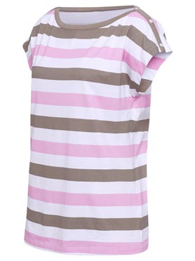 T-shirt rose-taupe a