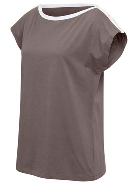 T-shirt taupe fonce