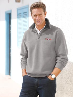Pull polaire gris chine