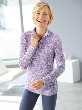 Pull parme chine