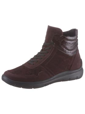 Bottines lie de vin