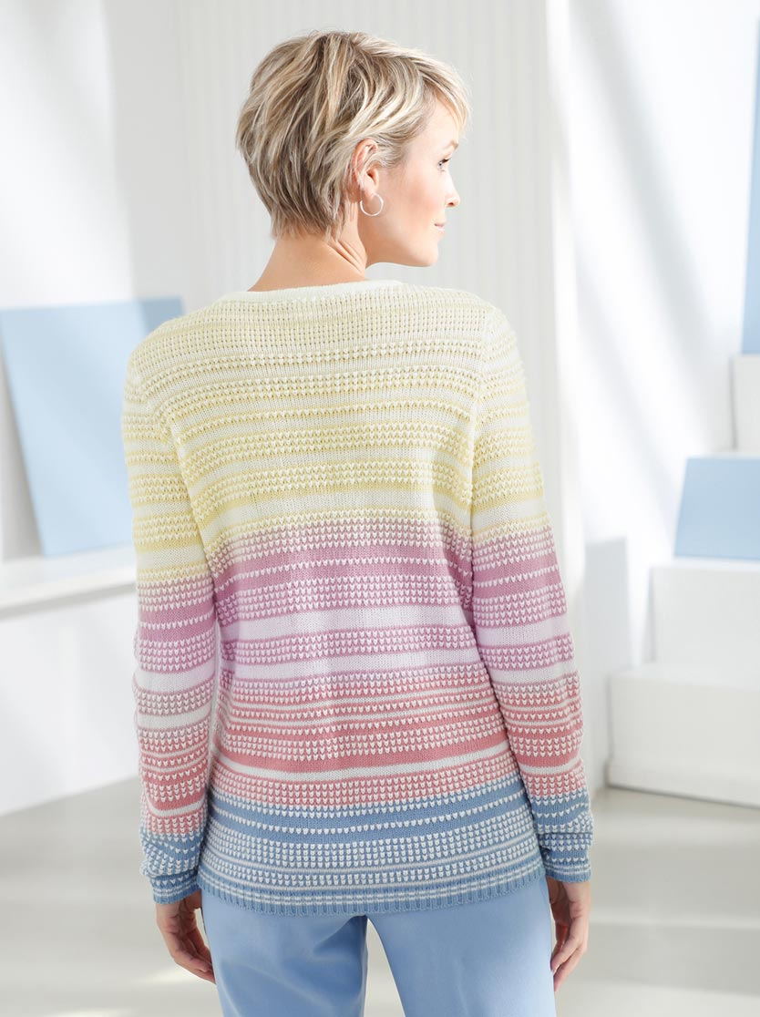 Pull multicolor textures rayures