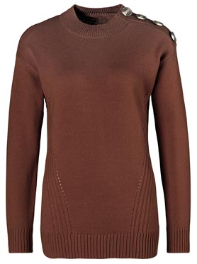 Pull marron rouge