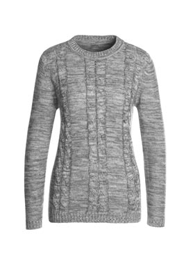 Pull femme manches longues chiné