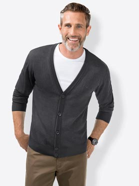 Cardigan anthracite chiné
