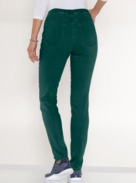 Jegging femme 2 poches coupe slim vert sapin