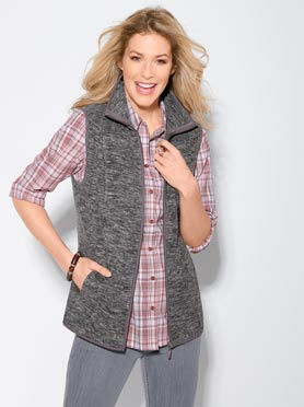 Gilet polaire anthracite chiné