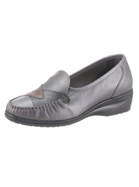 Mocassins anthracite