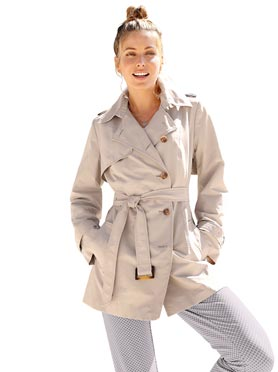Trench coat grande taille pour femmes rondes WITT
