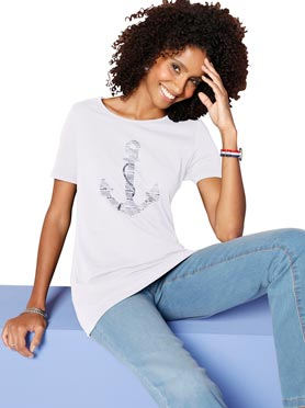 T-shirt simple confortable motif style marin