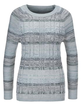 Pull menthe-gris