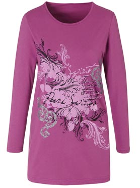 T-shirt long cyclamen