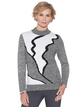 Pull chaud col montant