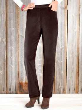 Pantalon en velours côtelé marron