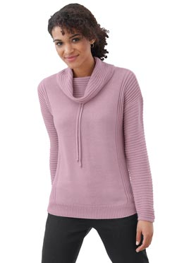 Pull vieux rose