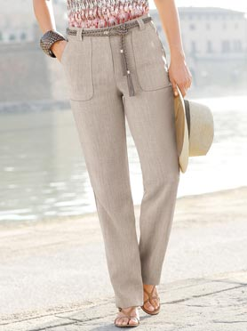 Pantalon femme simple léger et confortable