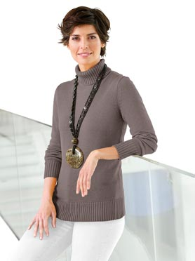 Pull taupe chine
