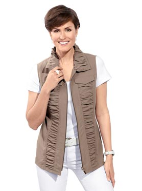 Gilet style sportif taupe