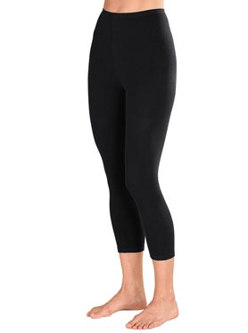 Legging 3/4 noir + anthracite