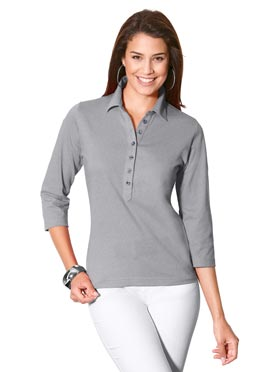Polo gris chine