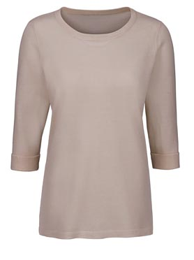 Pull simple et confortable col rond