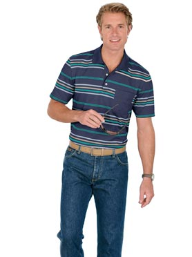 Polo homme manches courtes à rayures