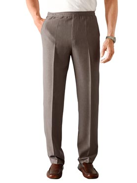Pantalon marron chiné