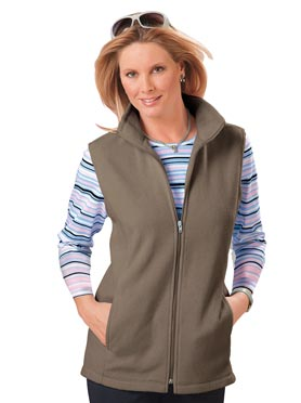 Gilet polaire taupe
