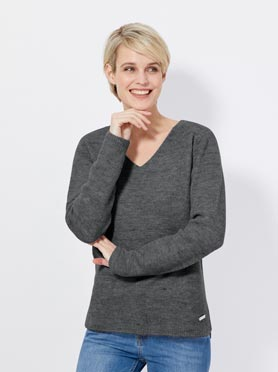 Pull gris fonce c