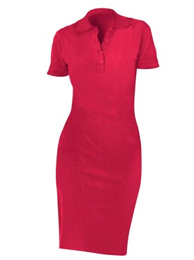 Robe polo rouge