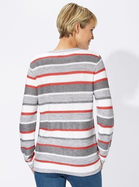 Pull confortable aux rayures multi-couleurs