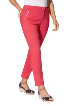 Jean rouge corail