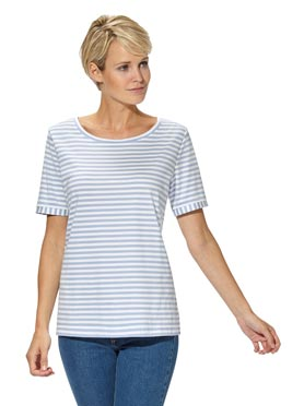 T-shirt femme rayures col rond