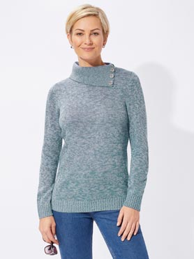 Pull turquoise ch