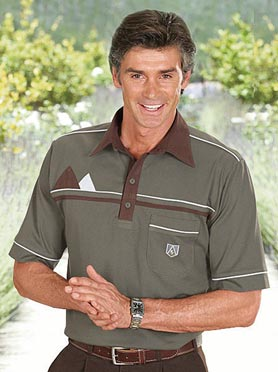 Polo homme manches courtes avec broderie