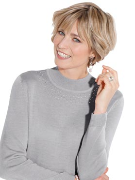 Pull gris chine