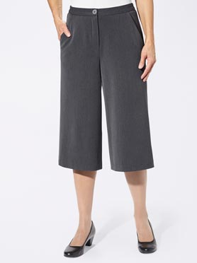 Jupe-culotte anthracite chiné