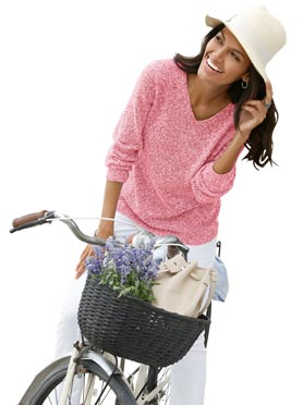 Pull corail chiné