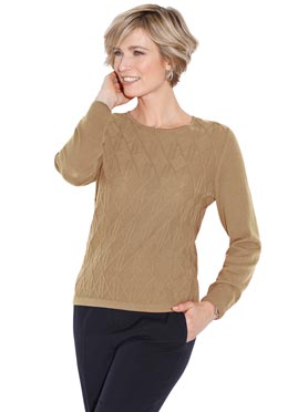 Pull couleur chamois