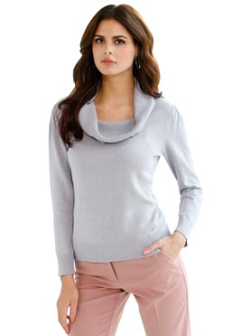 Pull femme col bénitier confortable