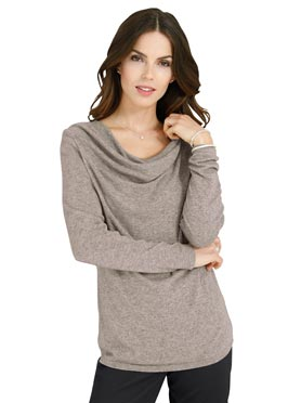 Pull taupe chiné