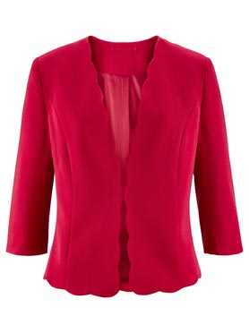 Blazer manches 3/4 bords arrondis