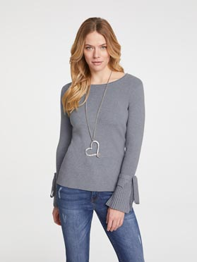 Pull gris-chine