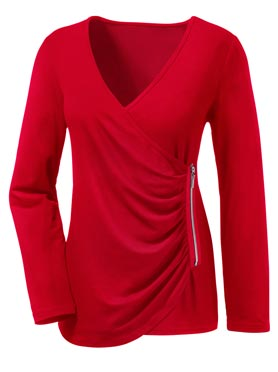 T-shirt long rouge