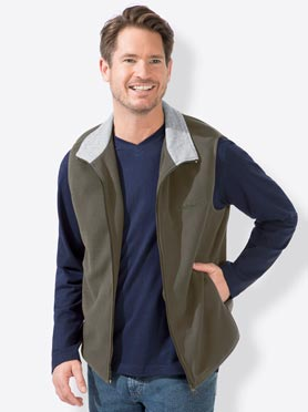 Gilet polaire vert olive