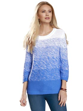 Pull en maille fine manches 3/4