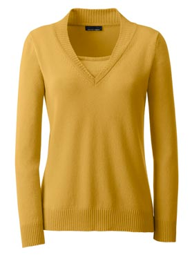 Pull cachemire ocre-chine